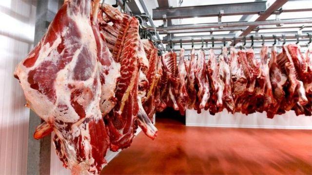 Carnes penduradas