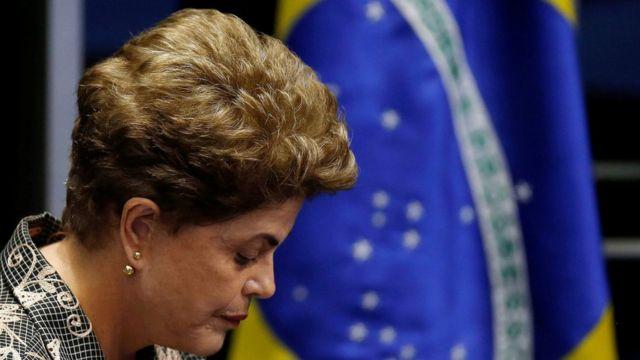 Dilma Rousseff no Senado em 29 de agosto de 2016