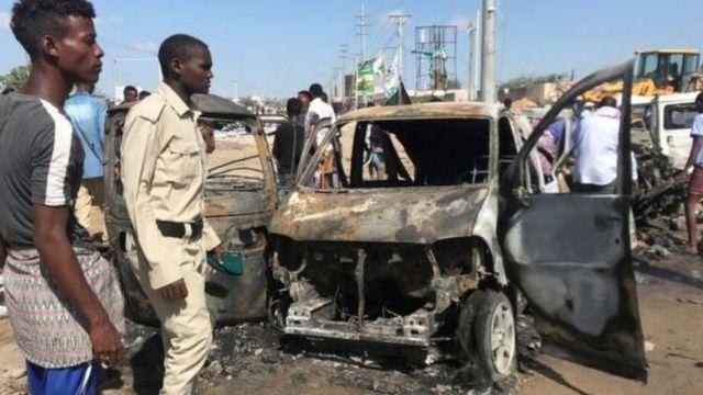 सोमालियात कारचा स्फोट