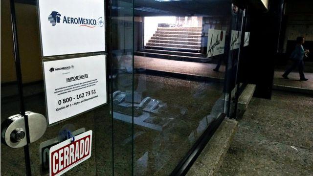 Oficina de Aeroméxico en Caracas