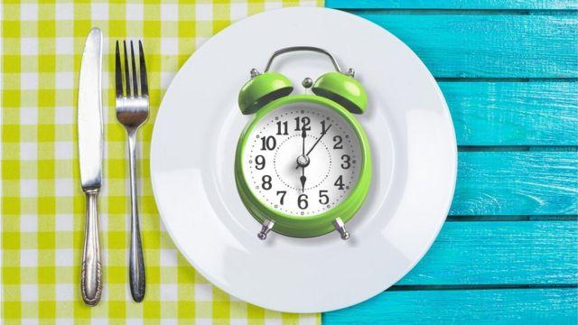 Reloj en un plato