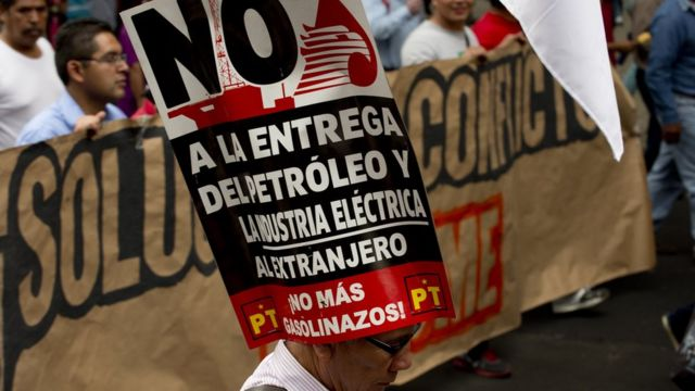Protesta contra la reforma energética en México