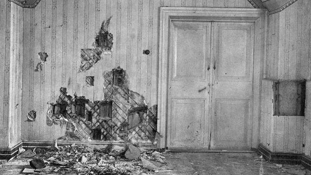 Подвал дома Ипатьева, где была расстреляна царская семья