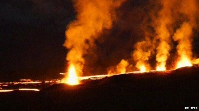 The Piton de la Fournaise volcano