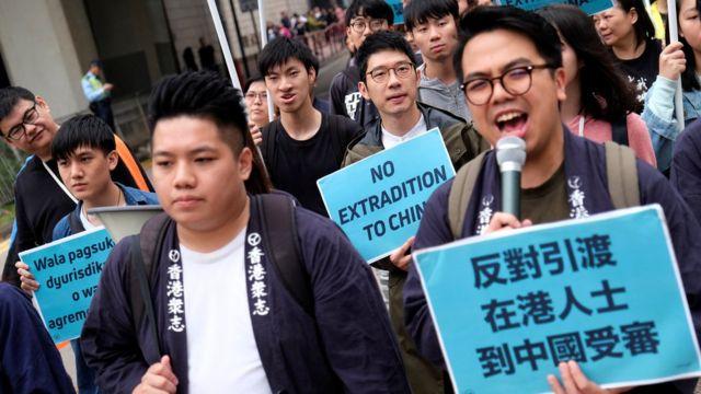 早前有香港团体发起游行反对政府修改法例,容许香港把嫌疑犯引渡到中国大陆受审。