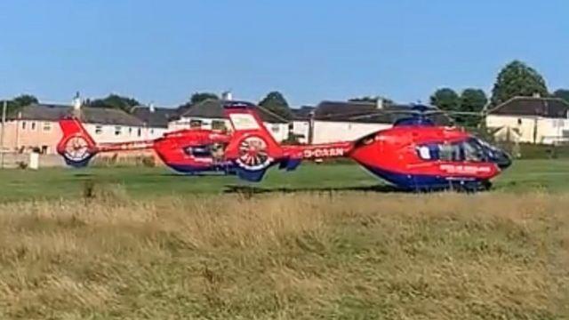 Nhiều máy bay cứu thương đã đến hiện trường