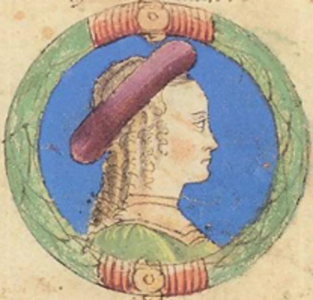 Ilustración de Beatrice d'Este.