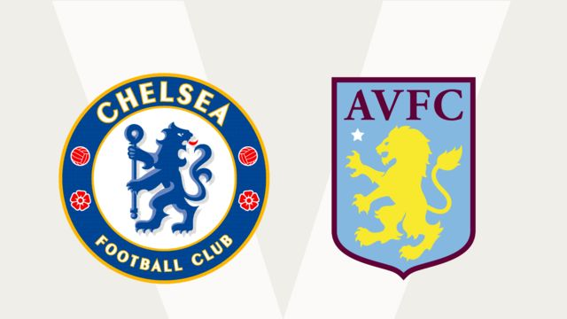 Chelsea and Aston Villa club badges