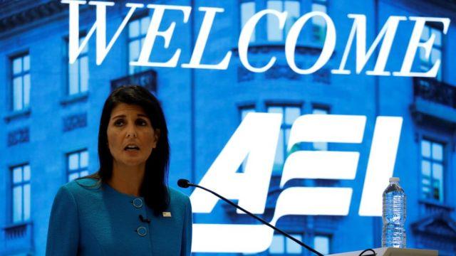 نیکی هیلی، نماینده آمریکا در سازمان ملل