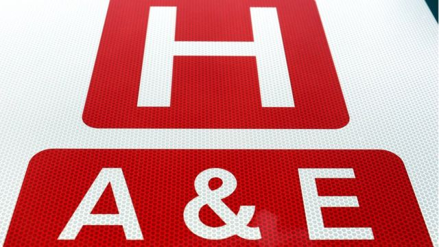 Hospital and A&E sign