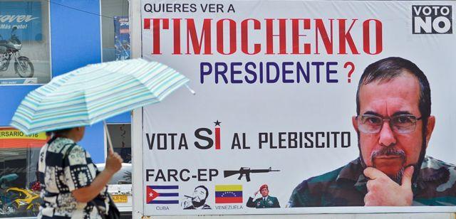 """Cartel de la campaña por el """"No"""" al plebiscito"""
