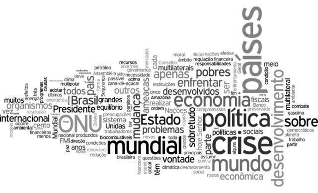Nuvem de palavras - Lula (2009)