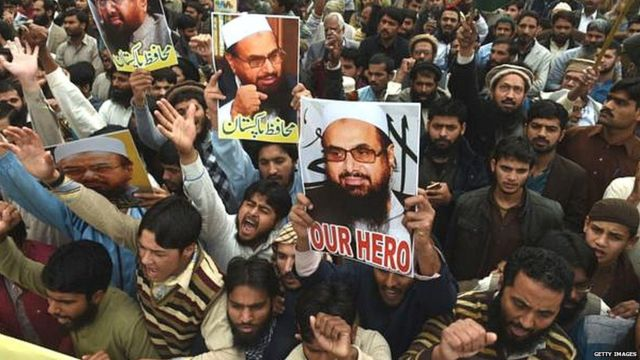 People in favor of Hafiz Saeed