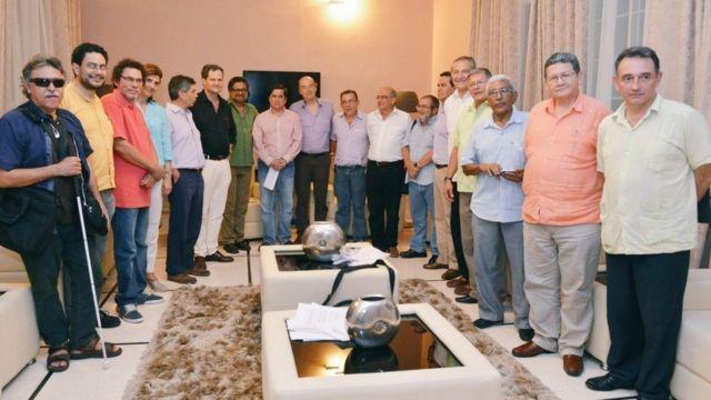 Negociadores del gobierno de Colombia y las FARC en La Habana