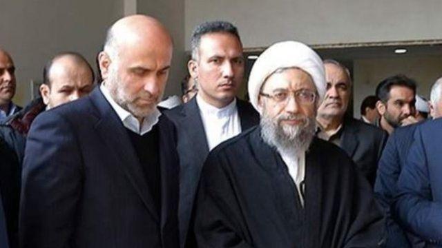 صادق لاریجانی رئیس فعلی مجمع تشخیص مصلحت نظام و اکبر طبری