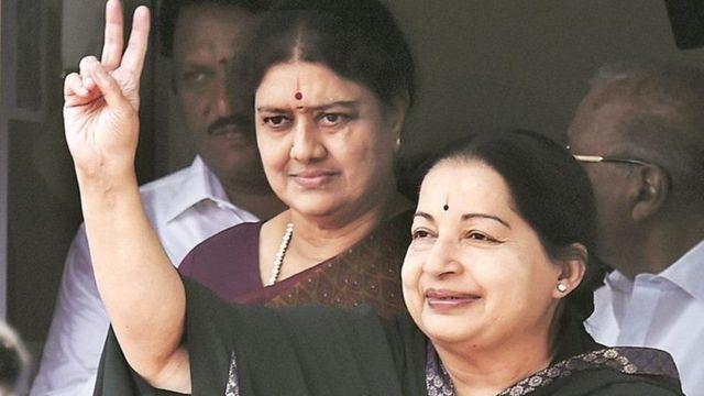 ஜெயலலிதாவுடன் வி.கே. சசிகலா