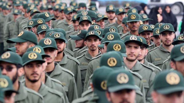 Miembros de los Cuerpos de la Guardia Revolucionaria Iraní.