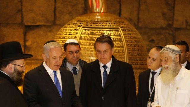 Bolsonaro com Netanyahu em Jerusalém