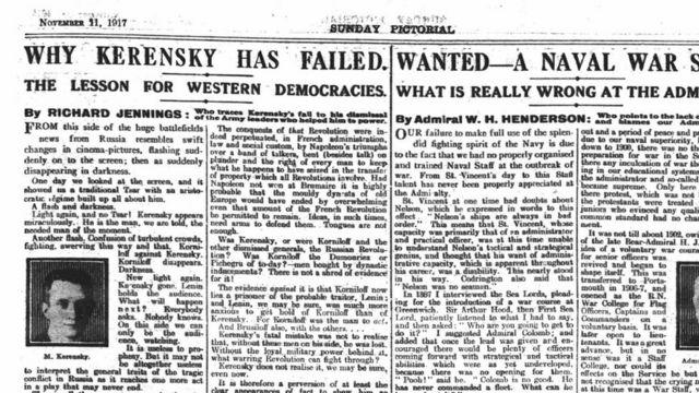 Sunday Mirror, 11 ноября 1917