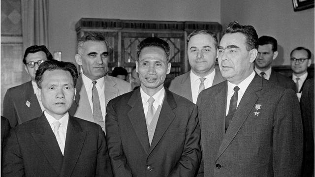Thủ tướng Phạm Văn Đồng và TBT Leonid Brezhnev trong chuyến thăm Liên Xô năm 1961 của ông Phạm Văn Đồng