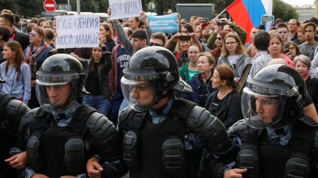 تظاهرات در سن پترزبورگ