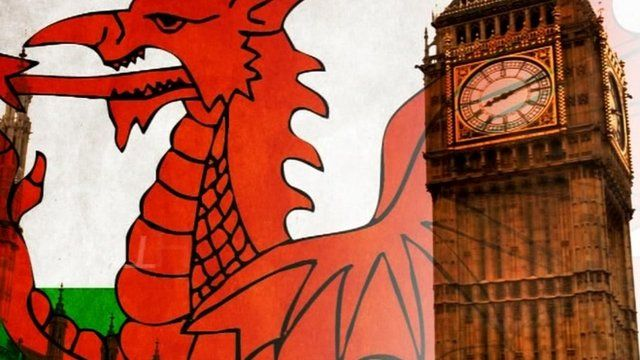 Welsh flag and Westminster