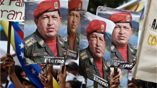 Pancartas de Hugo Chávez