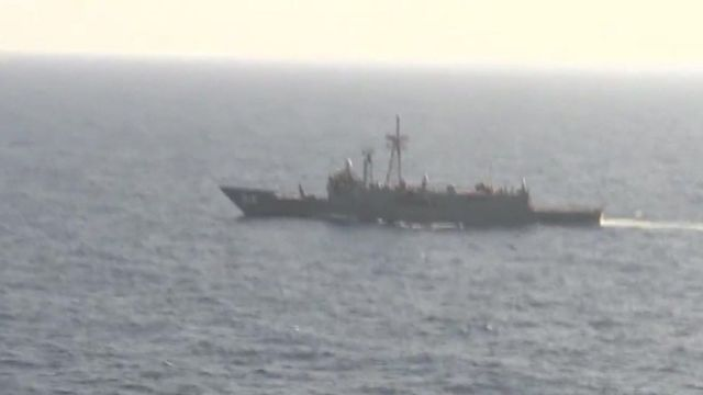 A boat searching for Egyptair Flight MS804.