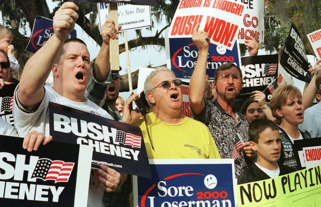 Bush supporters in Florida protest