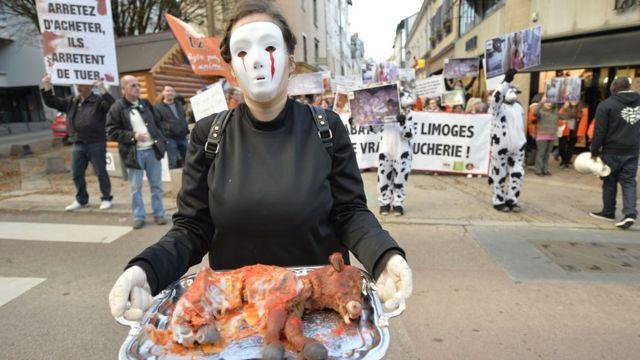 Manifestación organizada por L214.