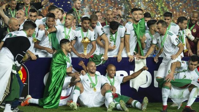 L'Algérie fête sa victoire à la Coupe d'Afrique des Nations 2019