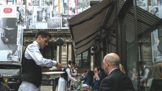 Waiter in London