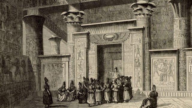 Pitágoras junto a sacerdotes egipcios