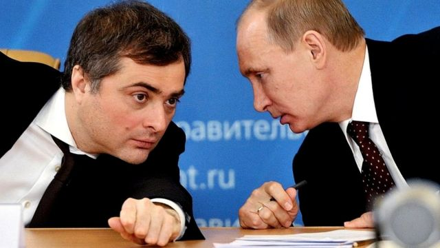 Vladislav Surkov y Vladimir Putin