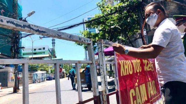 Một số khu vực tại Thành phố Đà Nẵng thực hiện lệnh phong tỏa
