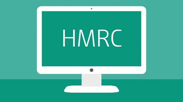HMRC displayed on a computer screen