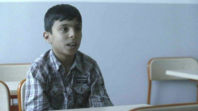 Syrian refugee child talks about life before he left Syria
