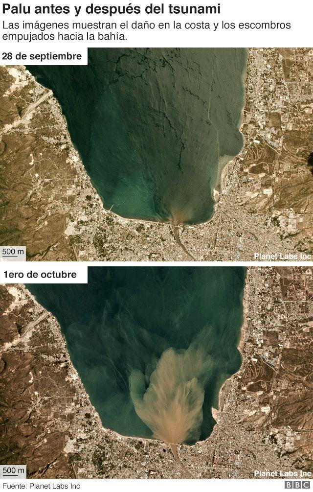 Palu antes y después