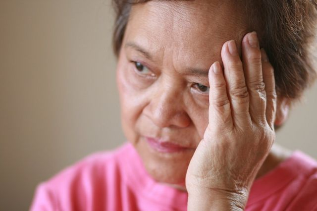 GETTY CREATIVE GENERIC Older woman with a worried look on her face