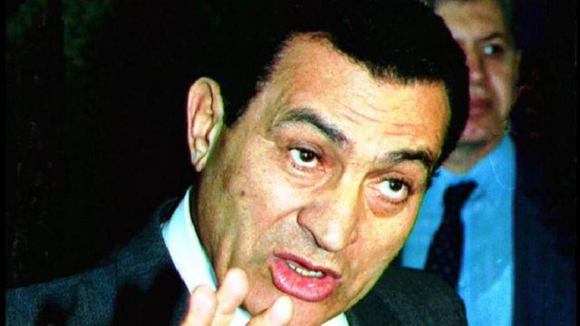 Hosni Mubarak en una imagen de archivo de 1991.