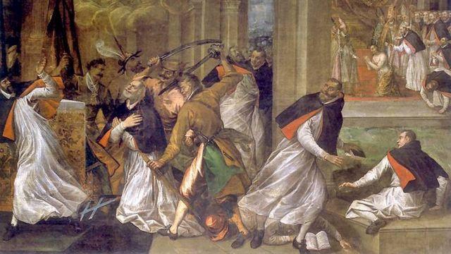 Убийство Томаса Бекета, картина Томмазо Долабеллы