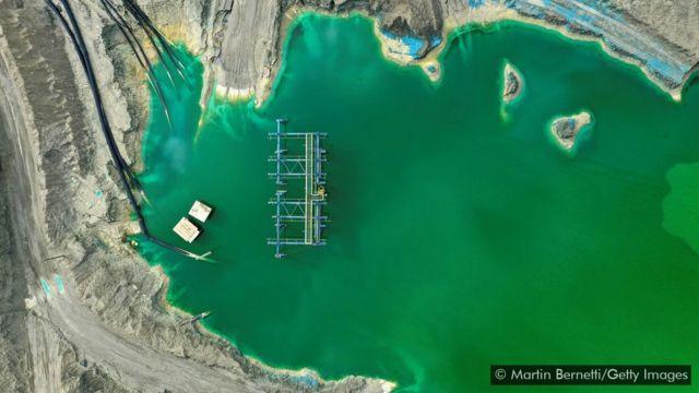 Bacia de rejeitos em Rancagua, no Chile