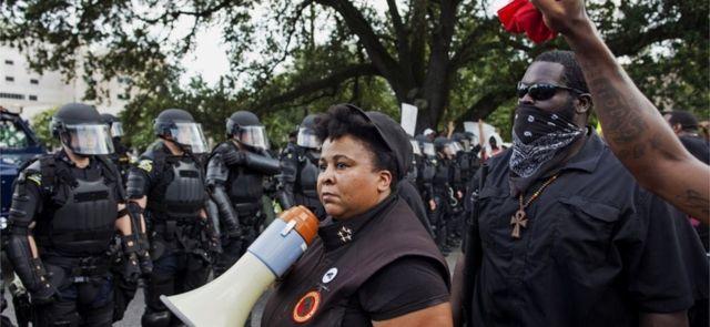 Miembros del Partido las Nuevas Panteras Negras