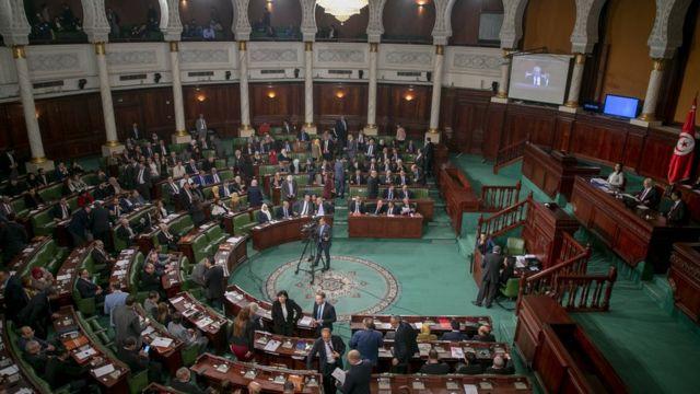 Le parlement tunisien lors d'un vote de défiance à Tunis, le 11 janvier 2020.