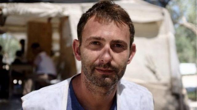 Luca Fontana, coordinador de Médicos Sin Fronteras en Lesbos