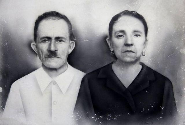 Foto dos avós de Jesús Abad Colorado Lopez
