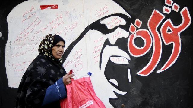 صورة لغرافيتي على جدران حائط بالقاهرة
