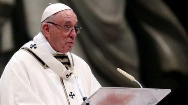 Roma Papası Papa Francis Sat Peters Basilica Rome Pope Francis