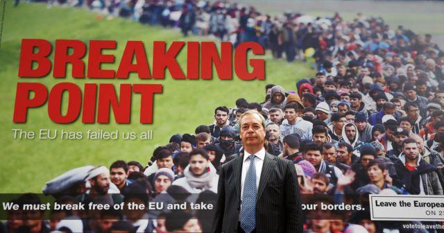 Pôster polêmico do partido Ukip usa imagens de refugiados sírios para amedrontar eleitores em referendo