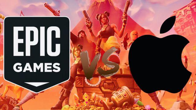 Los logos de Epic Games y Apple